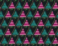 Metallic-Patchworkstoff MERRY LITTLE CHRISTMAS, Tannenbaum-Reihen,...