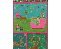 60-cm-Rapport Metallic-Patchworkstoff MERRY LITTLE CHRISTMAS,...