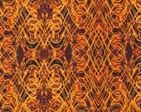 Patchworkstoff KISMET FLASH DANCE, Wellen-Kaleidoskop-Muster, orange
