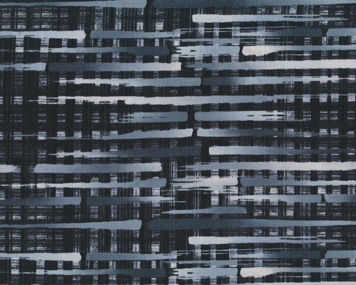 Patchworkstoff Black White Bright Farbverlauf Streifen Schwarz Grau