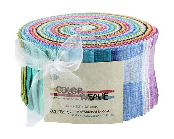 Precuts Jelly Roll COLOR WEAVE, 6 x 110 cm, 40 Streifen