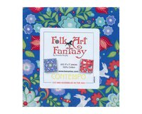 Precuts Charm Pack FOLK ART FANTASY, 12,5 x 12,5 cm, 42 Quadrate