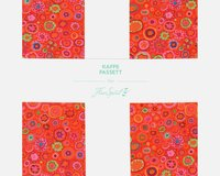 Precuts Layer Cake KAFFE FASSETT CLASSICS, 25 x 25 cm, 42 Quadrate, orange