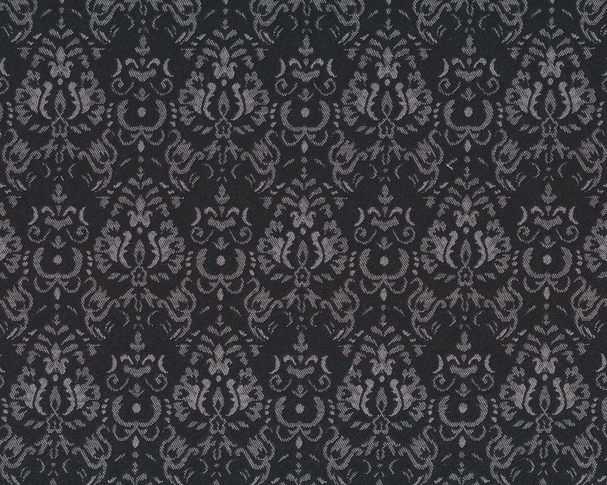 jacquard stoff elita damast muster schwarz hellgrau. Black Bedroom Furniture Sets. Home Design Ideas