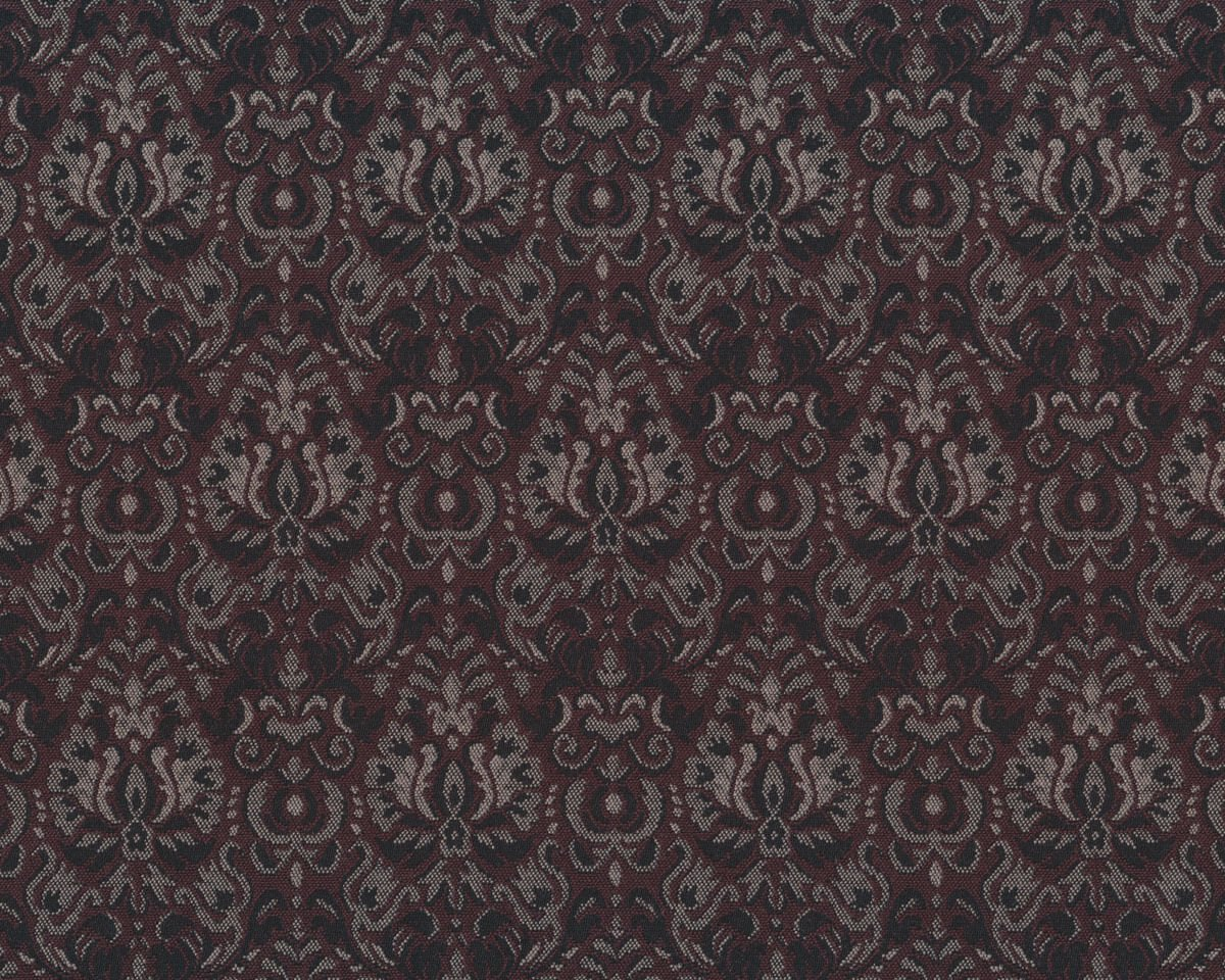 jacquard stoff elita damast muster aubergine steingrau. Black Bedroom Furniture Sets. Home Design Ideas