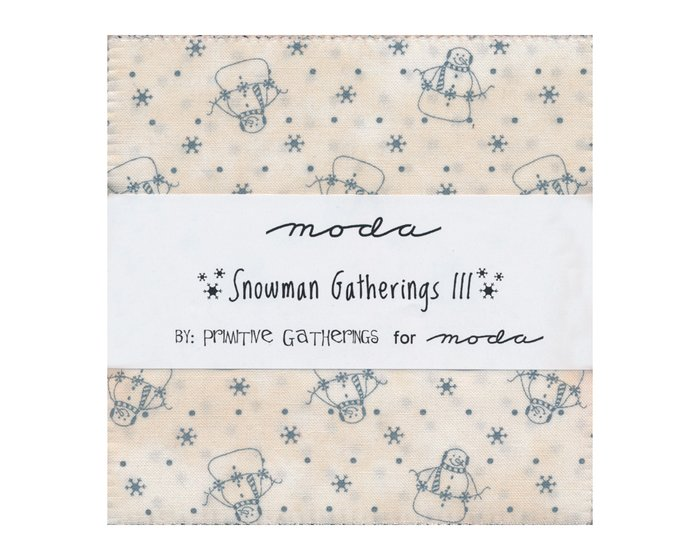 Precuts Charm Pack SNOWMAN GATHERINGS III, 12,5 x 12,5 cm, 42 Quadrate
