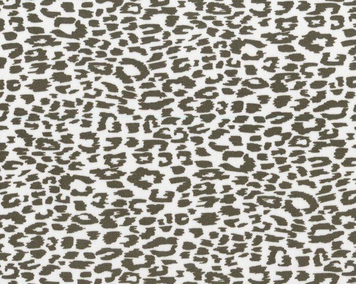 Baumwoll-Stretch MONTIJO, Wildkatzen-Muster, schlammbraun