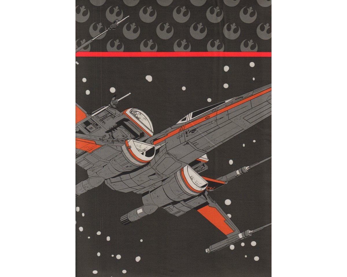 90-cm-Panel Patchworkstoff STAR WARS: THE LAST JEDI, X-Wing-Fighter ...
