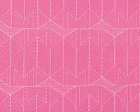 Popeline-Patchworkstoff WONDERFUL THINGS, Fischgrat-Geometrie, pink