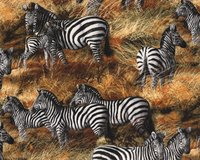 Patchworkstoff ANIMAL ADVENTURE, Zebras, hellbeige-schwarz