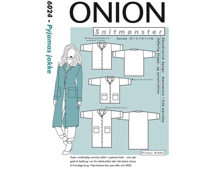 Oversize-Jacke, Schnittmuster ONION 6024