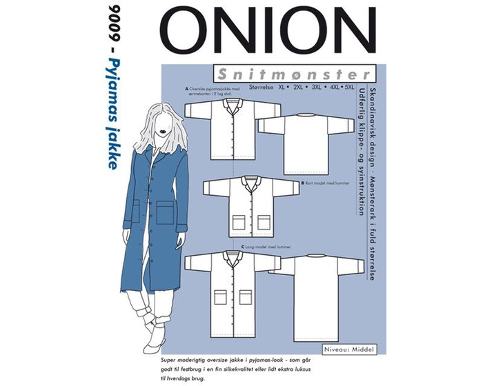 Oversize-Jacke, PLUSGRÖSSE, Schnittmuster ONION 9009