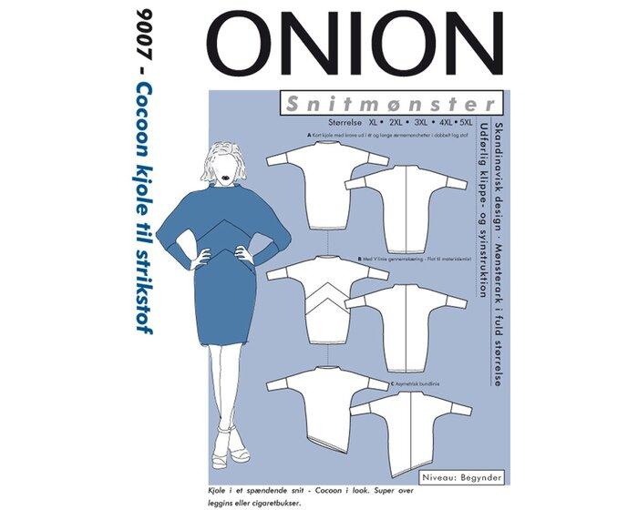 Cocoon-Kleid aus Jersey, PLUSGRÖSSE, Schnittmuster ONION 9007
