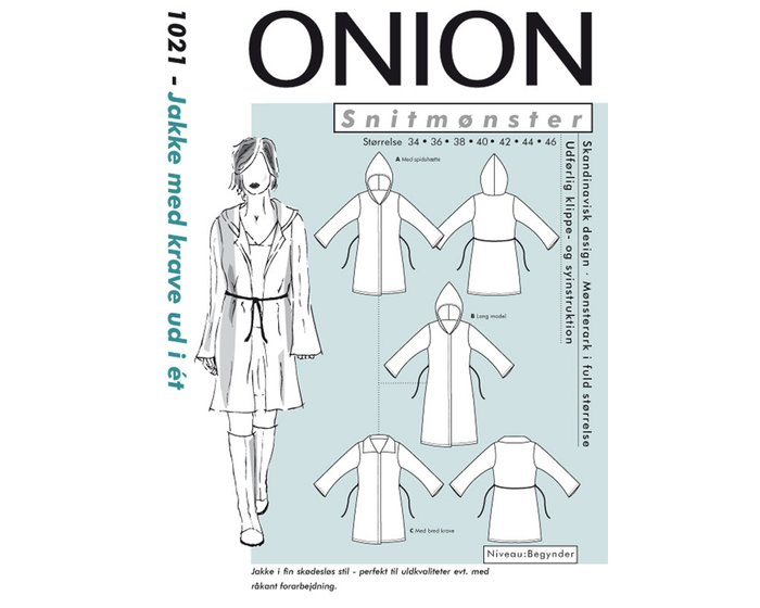 Leichter Cardigan, Schnittmuster ONION 1021