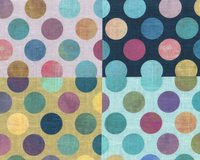 1,90-m-Panel Fat Quarter ALL A TWITTER, Punkte