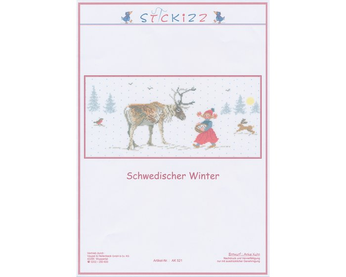 Stickvorlage: Schwedischer Winter, Stickizz