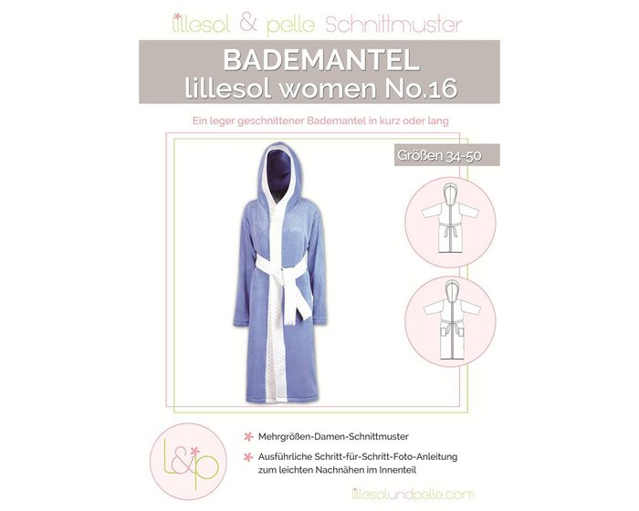 BADEMANTEL, Schnittmuster lillesol women No.16