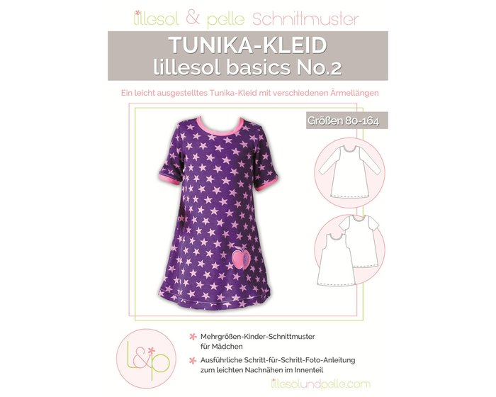 TUNIKA-KLEID, Kinder-Schnittmuster lillesol basics No.2