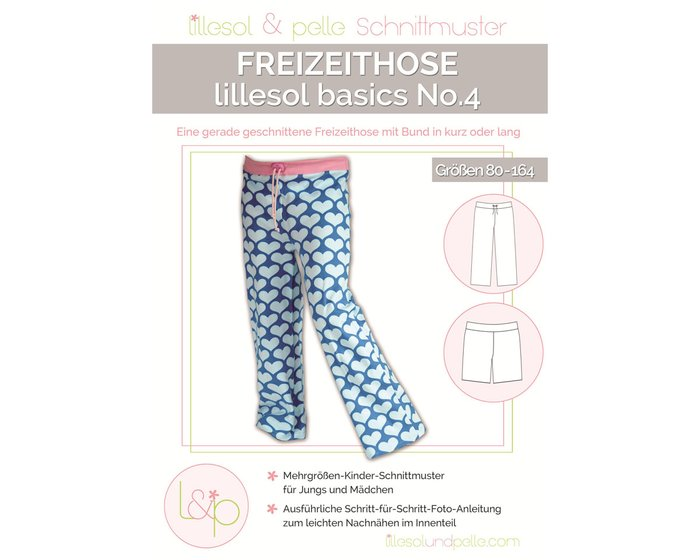 Kinder-Schnittmuster Freizeithose, lillesol basics No.4