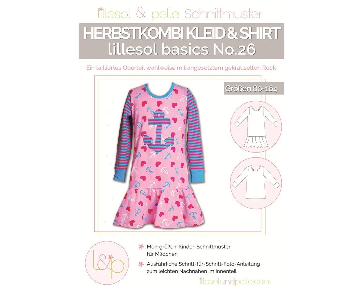 kinder-schnittmuster kleid & shirt herbstkombi, lillesol basics no.26