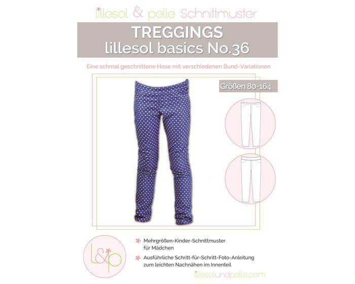 TREGGINGS, Kinder-Hosen-Schnittmuster lillesol basics No.36