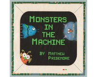 90-cm-Rapport Patchworkstoff MATTHEWS MINI MONSTERS, Soft Book