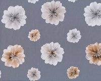 Patchworkstoff ESSENCE OF PEARL, Blumen, grau