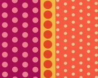 Patchworkstoff DOT CRAZY, Punkte-Bordüre, orange