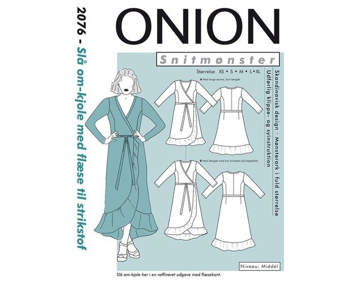 Kleid mit Volant, Schnittmuster ONION 2076