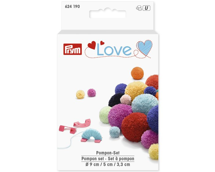Pompon-Set in 3 Größen, Prym Love