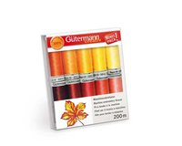 Maschinenstickfaden-Set RAYON 40, gelb-orange, Gütermann