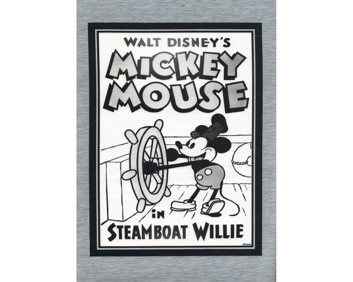 80-cm-Panel Sweatstoff DISNEY, Mickey Mouse in Steamboat