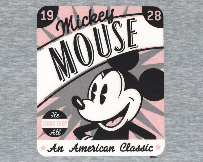 80-cm-Panel Sweatstoff DISNEY, Mickey Mouse 1928
