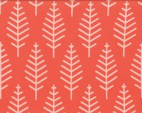 Jacquard-Strick BOTANICAL TRAIL, orange, Albstoffe
