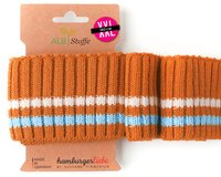 Bio-Bündchen CUFF ME COZY STRIPE, orange-blau