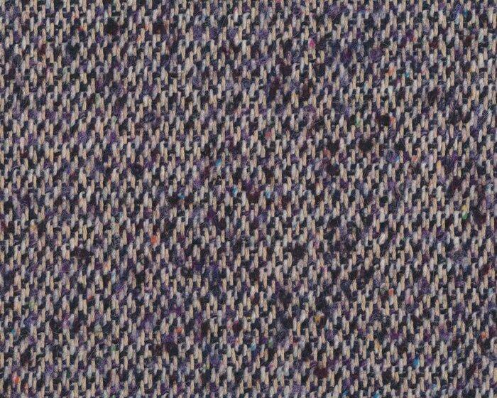 Wollstoff BEL, Strichel-Webmuster, lila-wollweiß