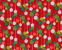 Patchworkstoff KRISTMAS ON A STRING, Weihnachts-Kugeln