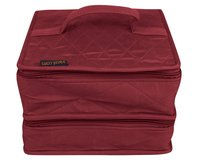 yazzii-Box DOUBLE CRAFT ORGANIZER DELUXE, weinrot