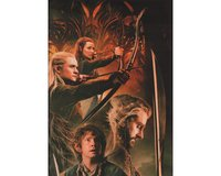 90-cm-Panel Patchworkstoff DER HOBBIT