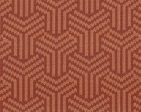 Jacquard-Strick MAGIC KNOT, Strickmuster, terracotta, Albstoffe