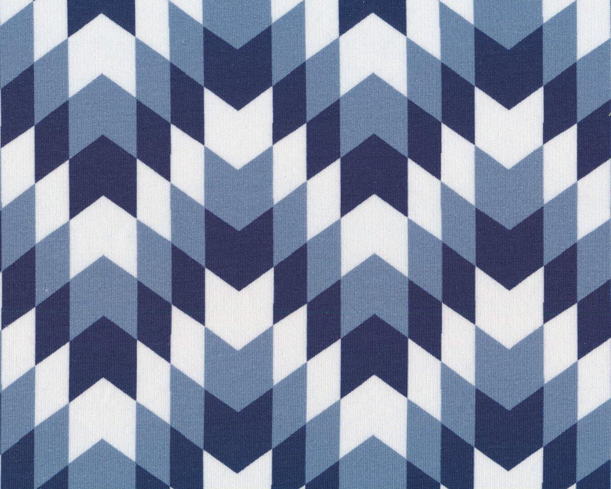 Baumwollstoff Hexagon Würfel geometrisch altrosa weiß 1,45m Breite