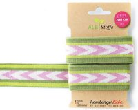 Jacquard-Band STRIPE ME CHECK POINT, Pfeile, grün, Albstoffe