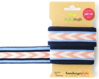 Jacquard-Band STRIPE ME CHECK POINT, Pfeile, marineblau,...