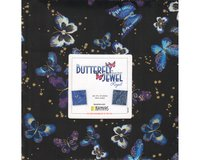 Precuts Layer Cake BUTTERFLY JEWEL, 42 Quadrate, blau