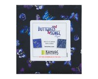 Precuts Charm Pack BUTTERFLY JEWEL, 42 Quadrate, blau