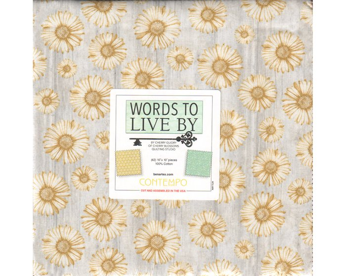 Precuts Layer Cake WORDS TO LIVE BY, 42 Quadrate