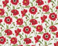 Patchworkstoff POPPY PERFECTION, Mohnblumen, rot
