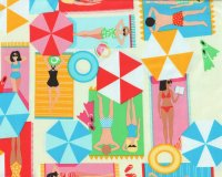 60-cm-Panel Patchworkstoff JUST BEACHY, Urlauber