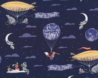 Patchworkstoff LOVE YOU TO THE MOON, Tiere im...