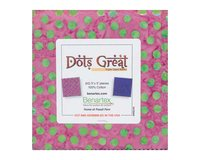 Batik-Precuts Charm Pack BALI DOTS GREAT, 42 Quadrate